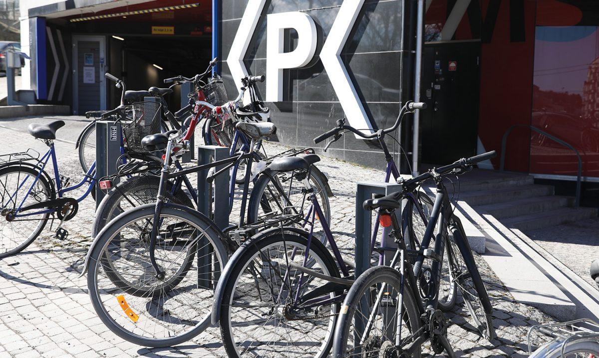 Cykelparkering Liljeholmen