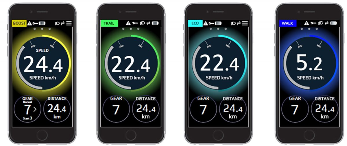 Shimano Steps phone app