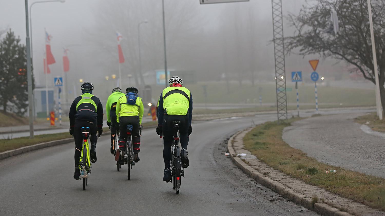Tillåtet att cykla på körnanan