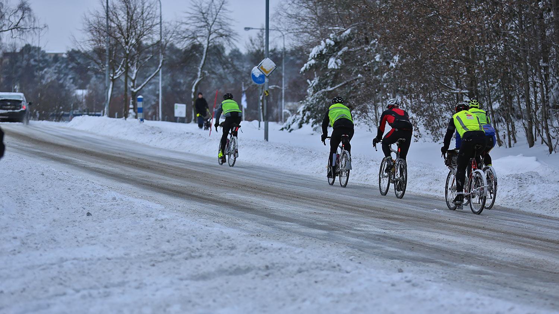 Sopsaltning av cykelbanot ökar cyklingen vintertid