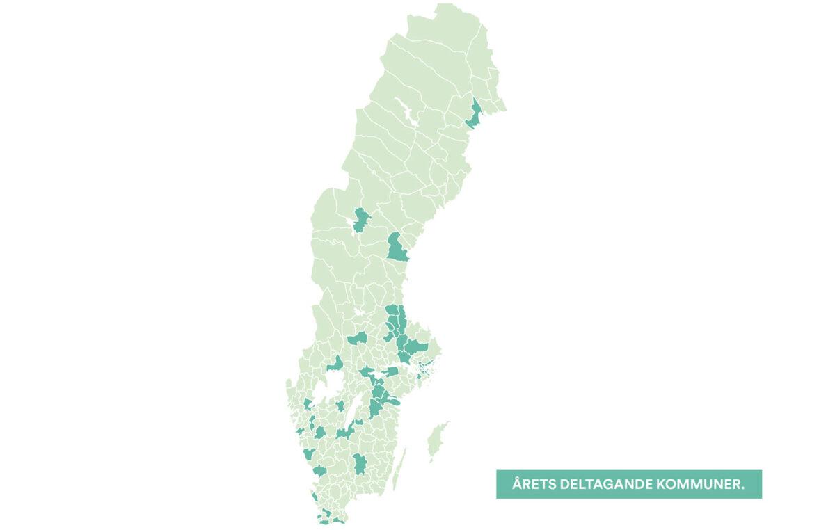 Cykelframjandets Kommunvelometer Deltagande Kommuner2019