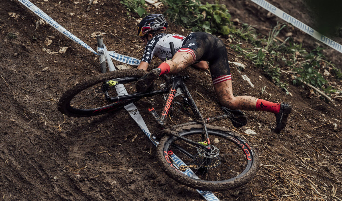 XCO Albstadt Crash Bartek Wolinski Red Bull Content Pool