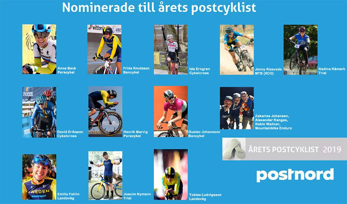 Nominerade Årets Postcyklist 2019