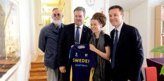 UCI:s president träffade idrottsminister Amanda Lind